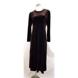 K.C. Spencer Size 12 Maroon Velvet Dress